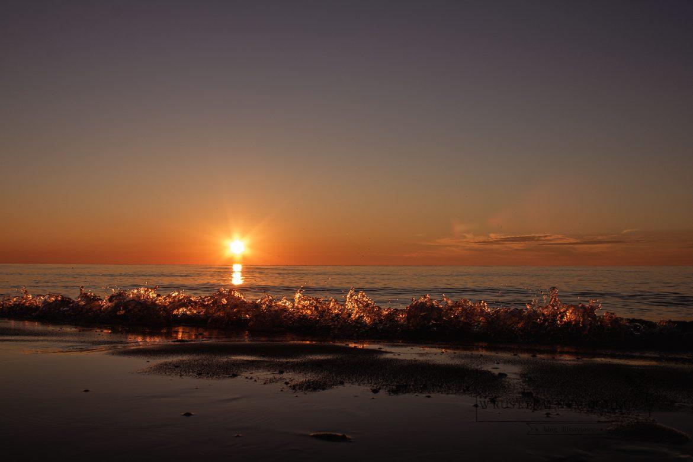 Zachód słońca nad Bałtykiem.